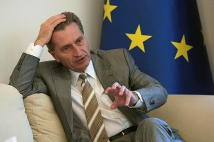 Gunther Oettinger, EU digital commissioner. Photo by Shutterstock - must mark as editorial use only