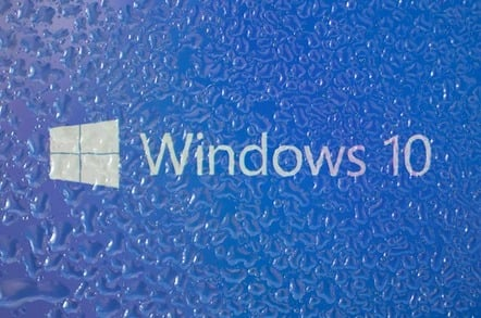 Windows 10 waterdrops, photo by Anton Watman via Shutterstock