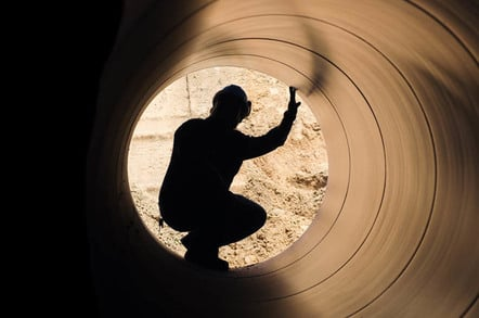 Big pipe, photo via Shutterstock