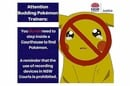 NSW Department Of Justice's Pokemon warning
