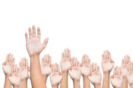 Raised hands vote