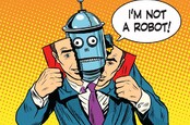 Robot as person illustration via Shutterstock