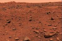 The first color picture of Mars from Viking 1