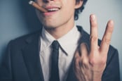 Two fingers, photo via Shutterstock
