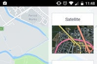 screenshots from here we go maps app