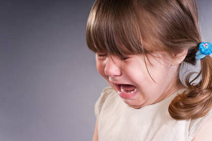 A crying child