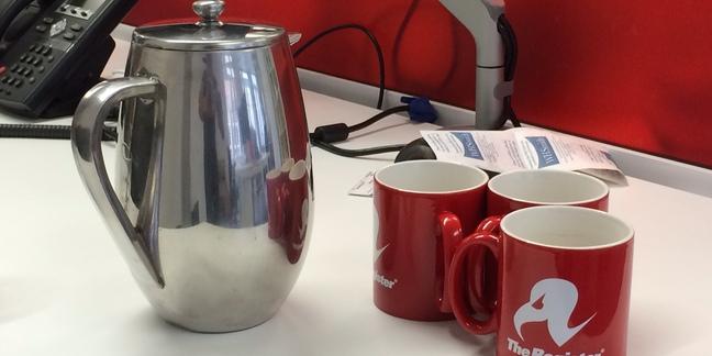 A coffee pot used to brew tea