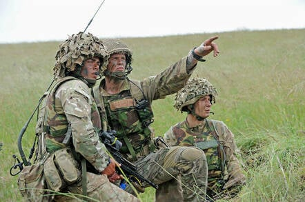 Newly passed out 2Lts from 6 RIFLES on Salisbury Plain Training Area. Crown copyright, 2013