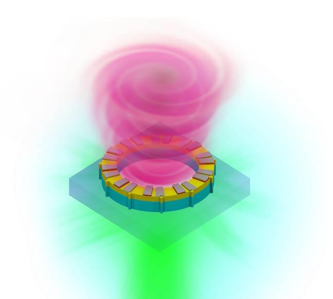 The microring vortex laser