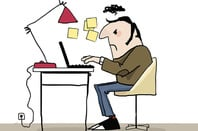 Angry man on laptop. Illustration via Shutterstock