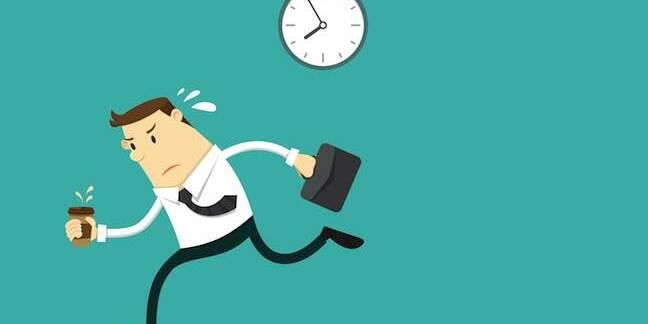 Running late to work