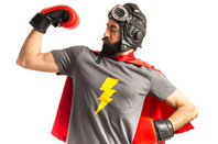 Nerd super hero photo via Shutterstock