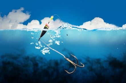 Fish hook in a clear light blue tropical ocean. Photo by Shutterstock