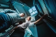 Two execs in a server room. Has to have happened some time heh. Photo by Shutterstock