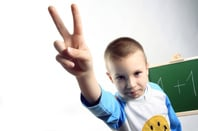 Boy two fingers, photo via Shutterstock