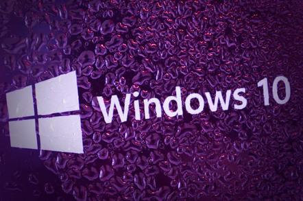 Windows 10 droplets, photo by Anton Watman via Shutterstock