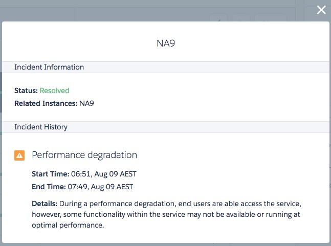 Salesforce status page beta