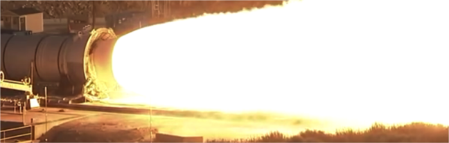 Conventional camera looking at a rocket plume