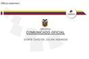 Communiqué from Ecuador on Julian assange