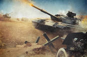tanks on battlefield