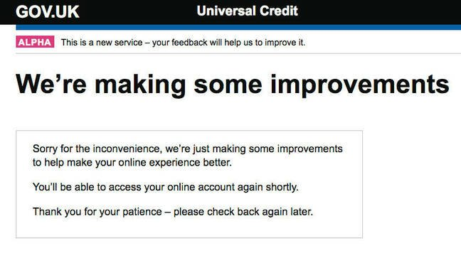 DWP apologises for inconvenience