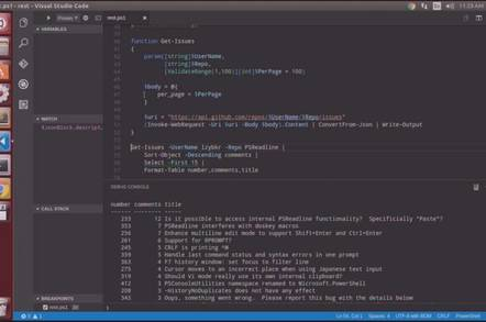 Editing and running PowerShell in Visual Studio Code on Linux