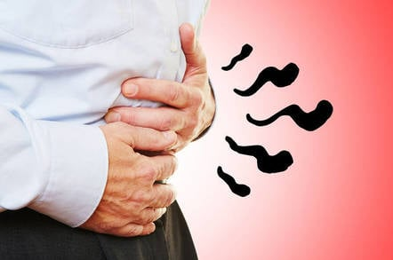 A stomach feeling bloated