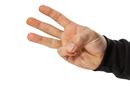 Three fingers, photo via Shutterstock