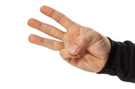 Three fingers, photo via Shutterstock