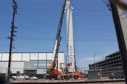 Falcon 9 raising