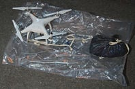 A quadcopter drone seized by the Metropolitan Police