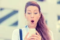 Surprised by smartphone