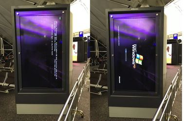 Windows XP fail at Hong Kong airport