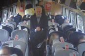 Corbyn on a train