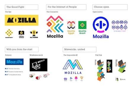 Mozilla logo candidates