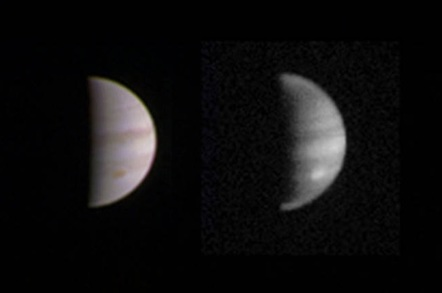 This dual view of Jupiter was taken on August 23, when NASA's Juno spacecraft was 2.8 million miles (4.4 million kilometers) from the gas giant planet on the inbound leg of its initial 53.5-day capture orbit. Credits: NASA/JPL-Caltech/SwRI/MSSS