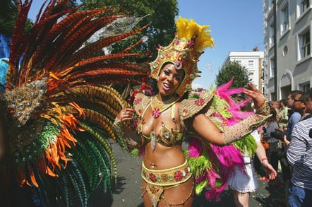 Notting Hill Carnival dancer. Pic: Shutterstock