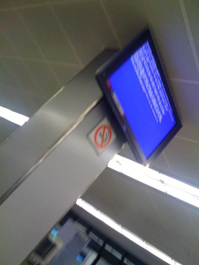 BSOD in Dubai Airport
