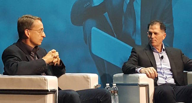 VMware CEO Pat Gelsinger and Dell CEO Michael Dell at VMworld 2016