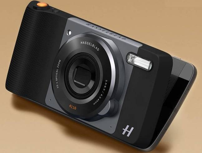 Hasselblad-branded add-on for Moto Z phones
