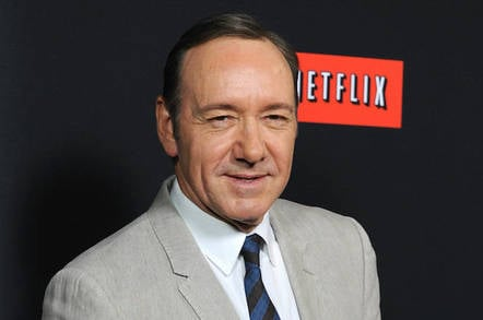 Netflix logo with Kevin Spacey, or is that other way around?