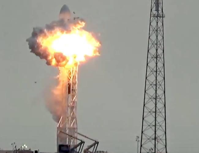 Explosion at SpaceX launch site in Florida during test