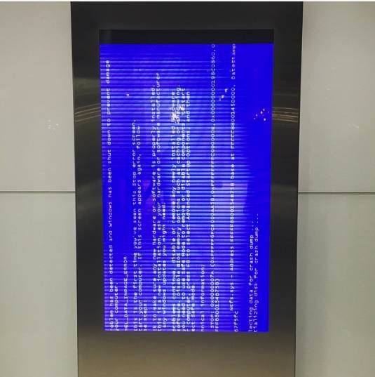 Clarence Street, BSOD on a dead display
