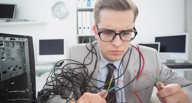 Broken cables, photo via Shutterstock