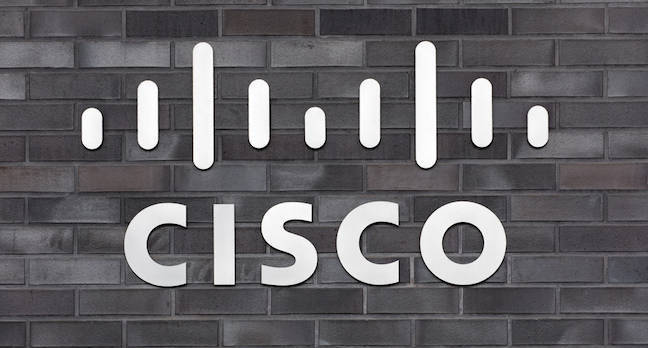 """Wallisellen, Switzerland - 30 January, 2016: sign on the wall of the Cisco Systems GmbH office.  <a href=""""http://www.shutterstock.com/gallery-1322746p1.html?cr=00&pl=edit-00"""">Denis Linine</a> / <a href=""""http://www.shutterstock.com/editorial?cr=00&pl=edit-00"""">Shutterstock.com</a>"""
