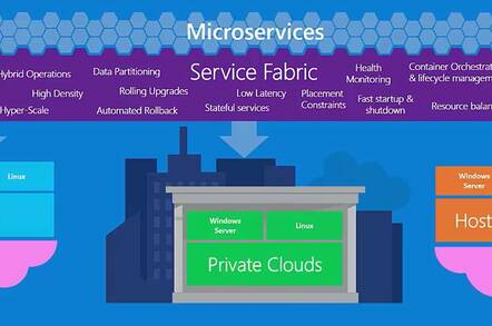 Microsoft's Service Fabric is an application platform for microservices