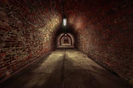 A brick tunnel