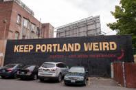 """Keep Portland Weird sign<a href=""""http://www.shutterstock.com/gallery-1455572p1.html?cr=00&pl=edit-00"""">Tyler McKay</a> / <a href=""""http://www.shutterstock.com/editorial?cr=00&pl=edit-00"""">Shutterstock.com</a>"""