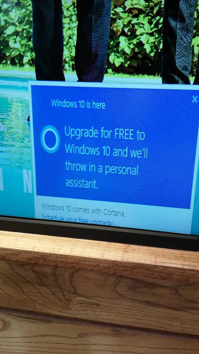 Windows nagware ruins ad