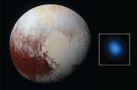 Pluto, visible and X-ray